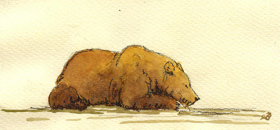 Grizzly Painting - Grizzly Bear by Juan  Bosco