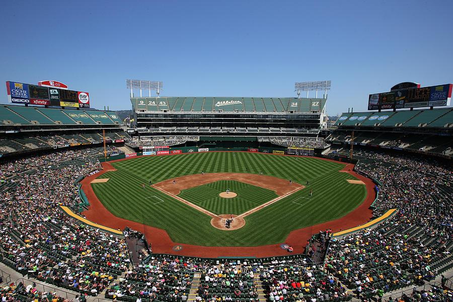 Houston Astros Vs. Oakland Athletics Photograph by Brad Mangin
