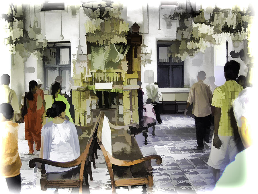 Building Digital Art - Inside The Historic Jewish Synagogue In Cochin by Ashish Agarwal