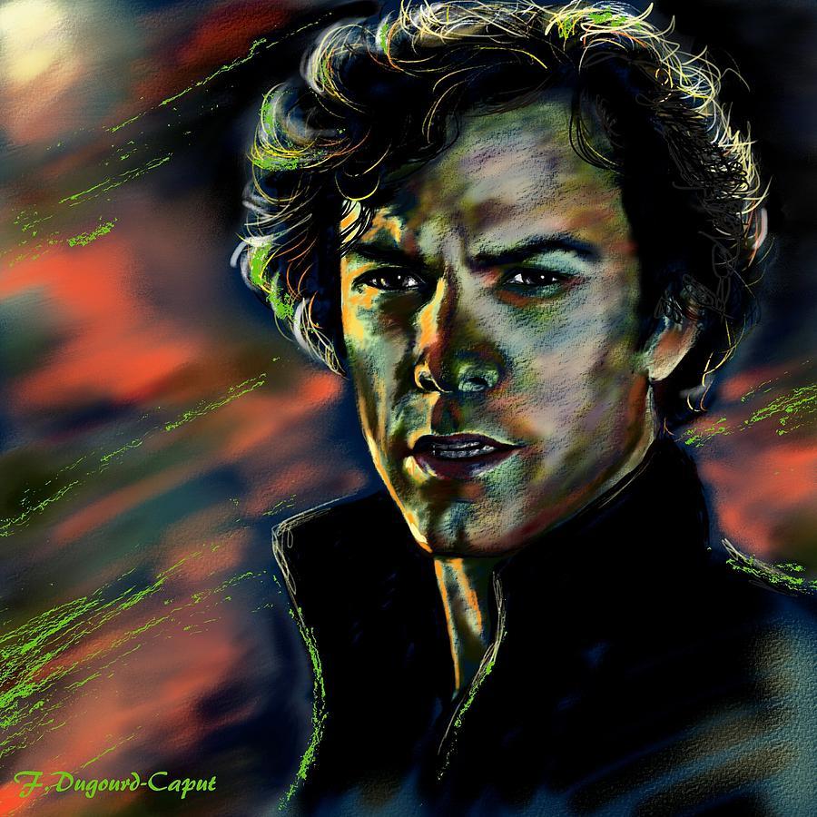 Portrait Painting - Kyle Schmid by Francoise Dugourd-Caput