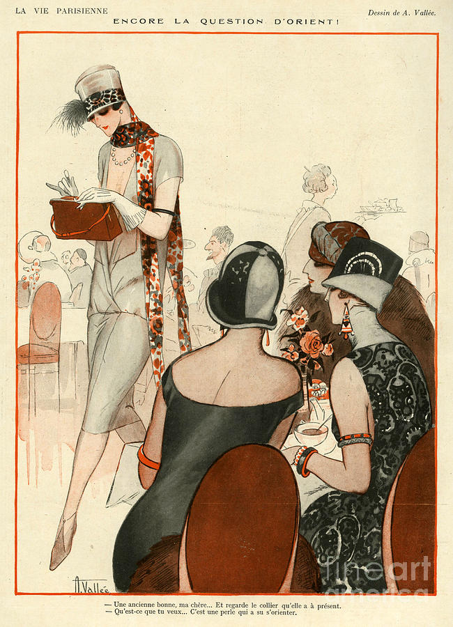 French Drawing - La Vie Parisienne 1924 1920s France A by The Advertising Archives