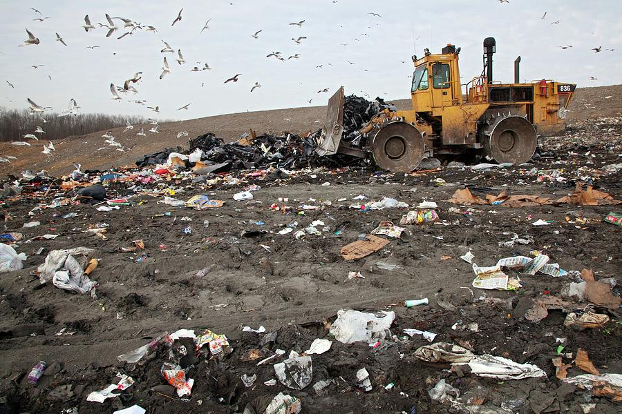 Vehicle Photograph - Landfill Site by Jim West
