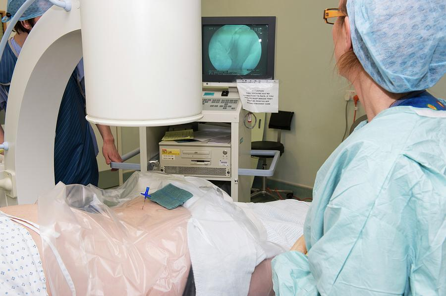 Healthcare Photograph - Lower Back Pain Treatment by Dr P. Marazzi/science Photo Library