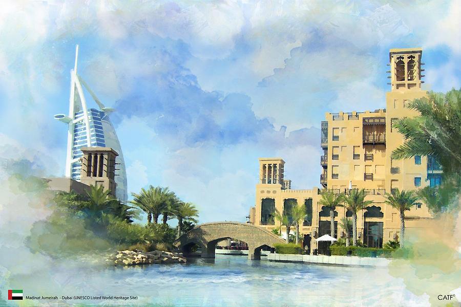 Dubai Culture Painting - Madinat Jumeirah by Catf