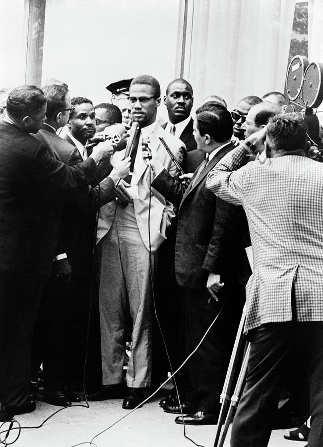 1964 Photograph - Malcolm X (1925-1965) by Granger