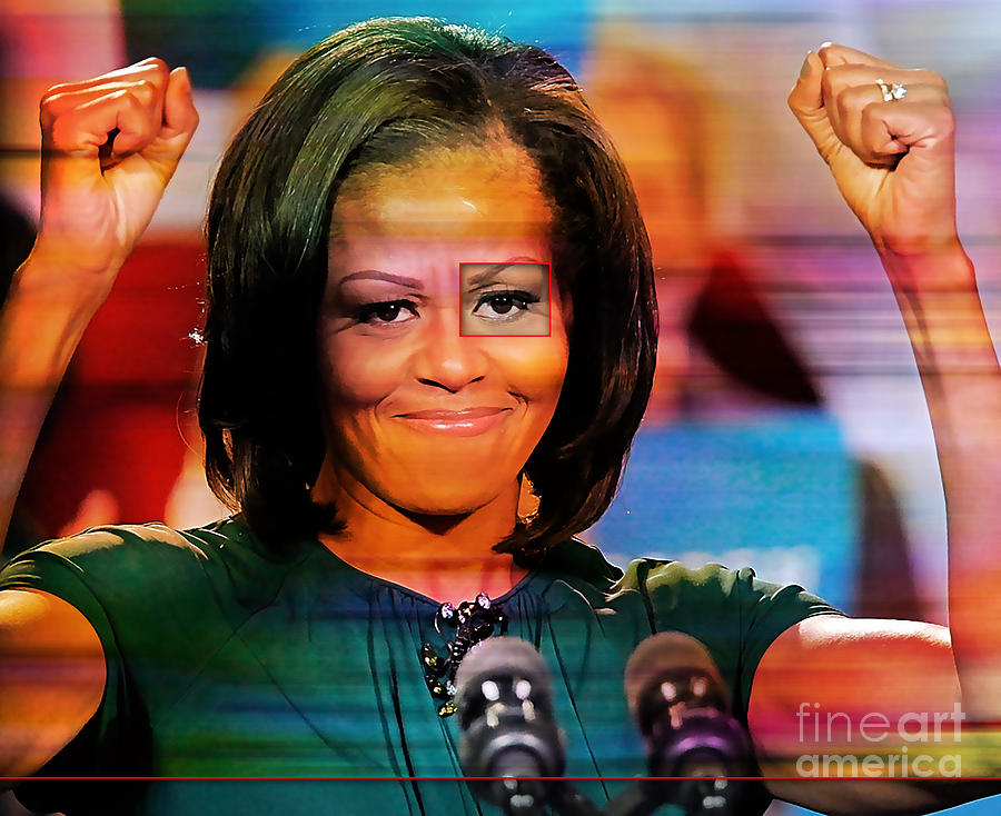 Michelle Obama Mixed Media by Marvin Blaine