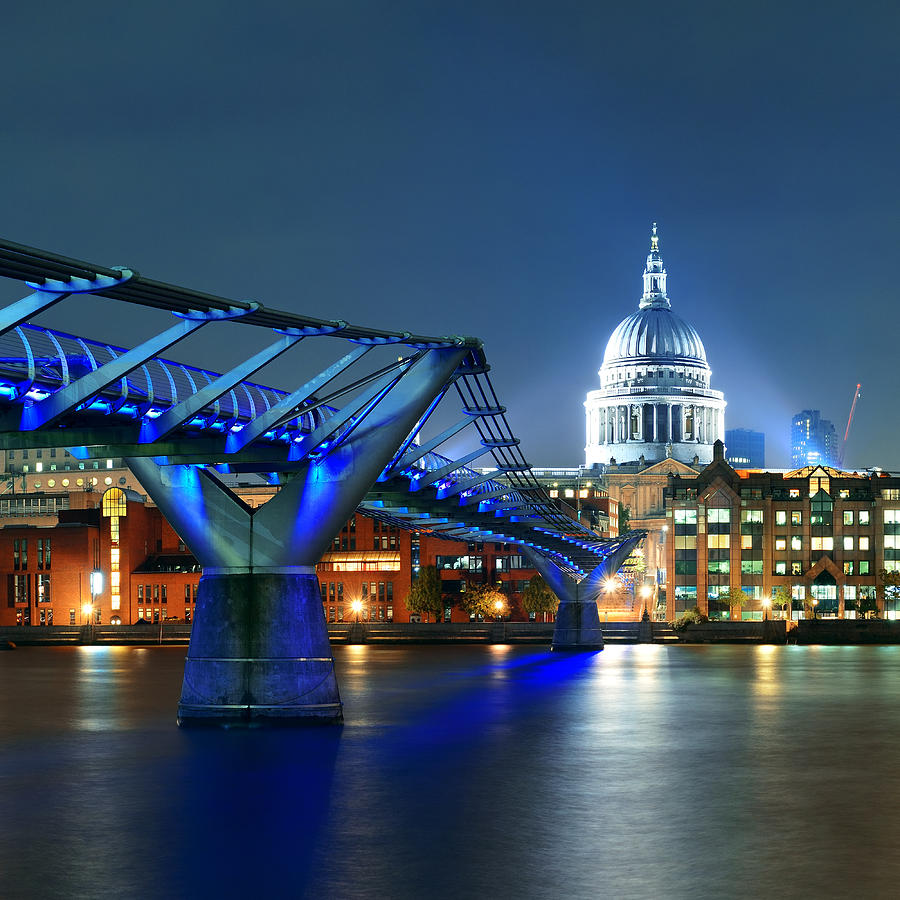 Millennium Bridge And St Pauls Photograph