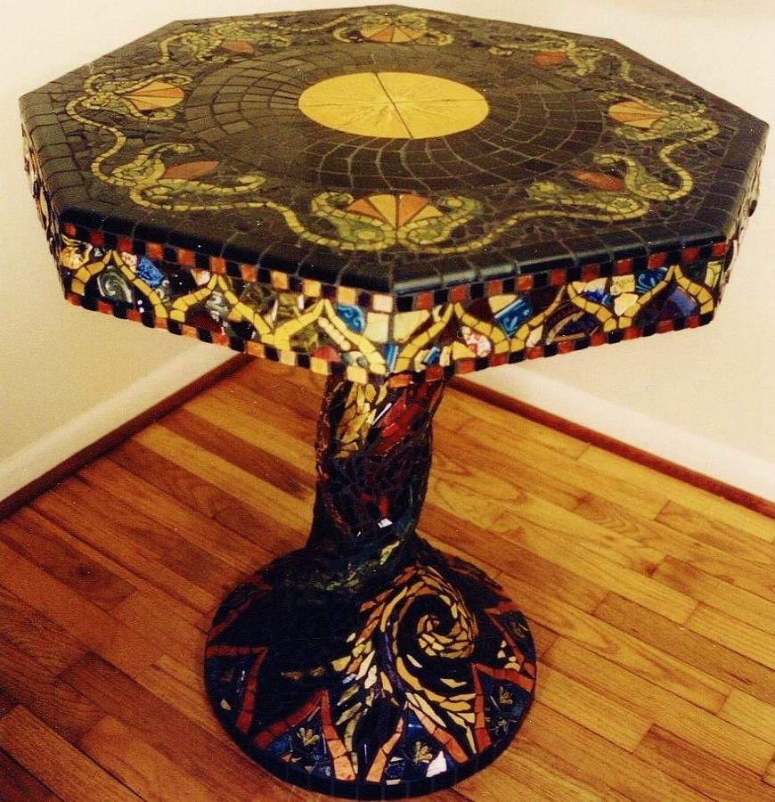 Mosaic Table Ceramic Art - Mosaic Table  by Charles Lucas