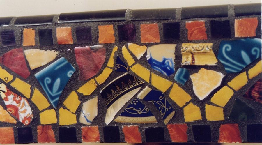 Mosaic Table Top Ceramic Art by Charles Lucas