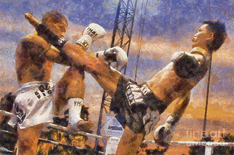 Muay Thai Digital Art - Muay Thai Arts Of Fighting by Rames Ratyantarakor