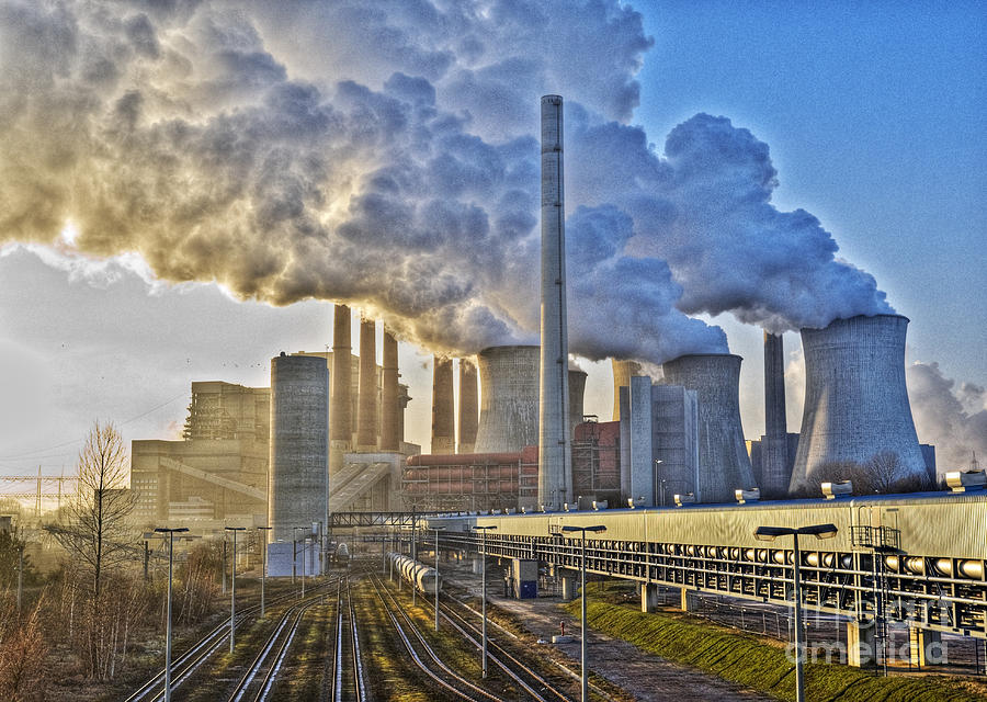 Environment Photograph - Neurath Power Station Germany by David Davies