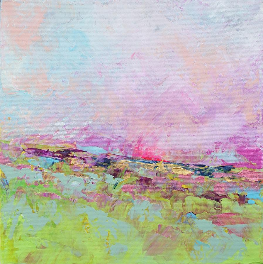 Abstract Painting - 5 Oclock by Sally Kelly