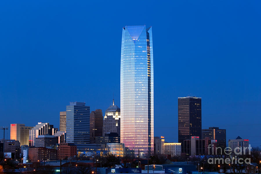 Oklahoma City Skyline At Dusk Photograph By Bill Cobb