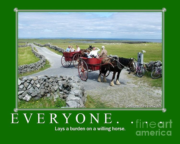 Horse And Trap Photograph - Old Irish Sayings by Joe Cashin