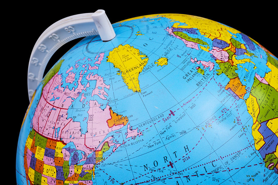 Old Rotating World Map Globe Photograph By Donald Erickson