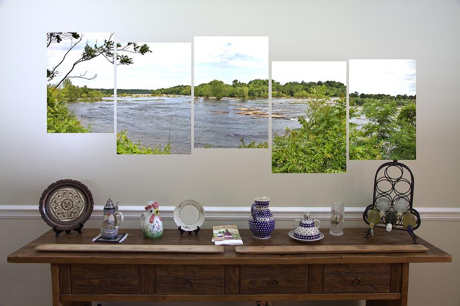 James Photograph - 5-panel - James River by Gordon Elwell