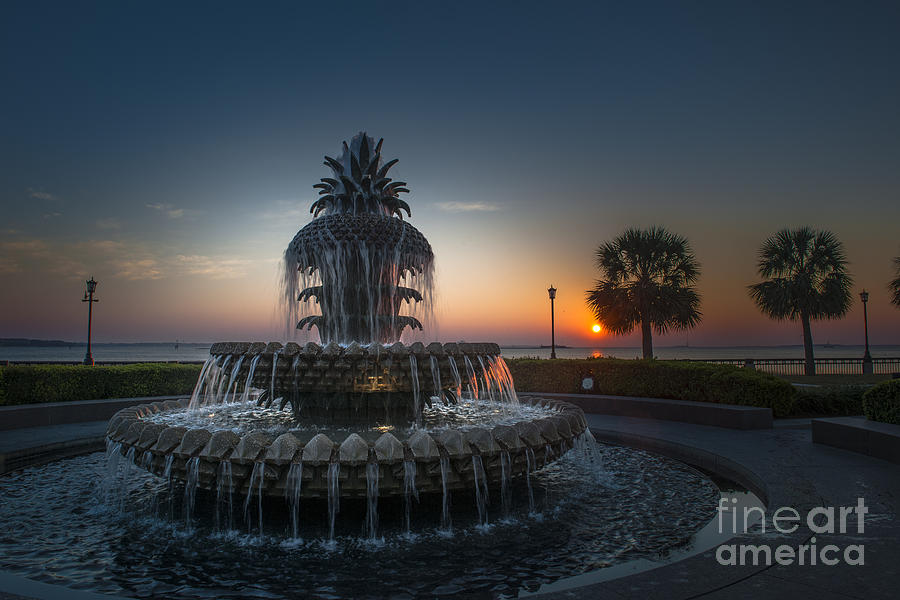 Water Flowing At Sunrise Photograph