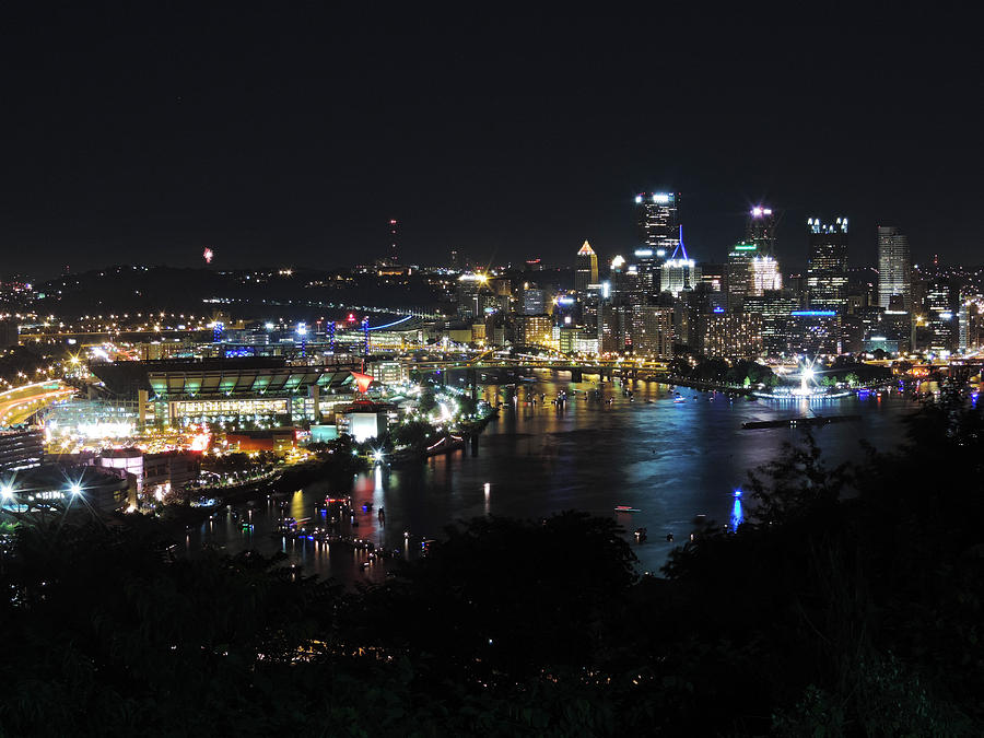 City Photograph - Pittsburgh Skyline At Night by Cityscape Photography