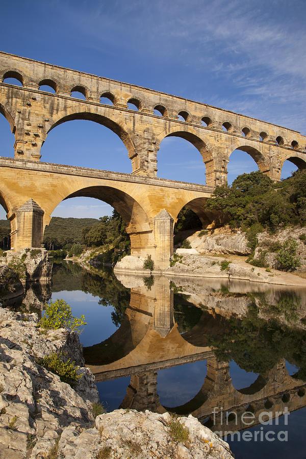 Ancient Photograph - Pont Du Gard by Brian Jannsen