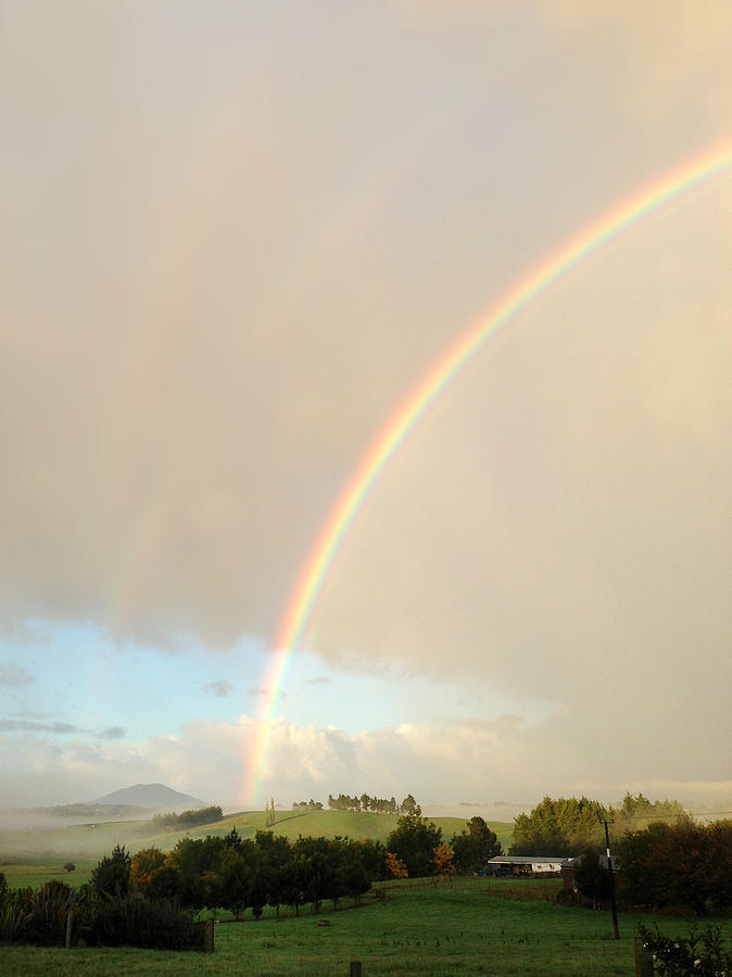 Beautiful Photograph - Rainbow by Les Cunliffe