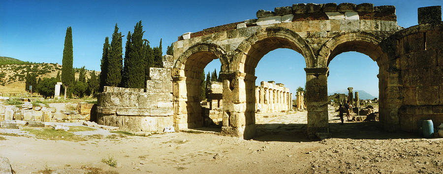 Color Image Photograph - Ruins Of The Roman Town Of Hierapolis by Panoramic Images