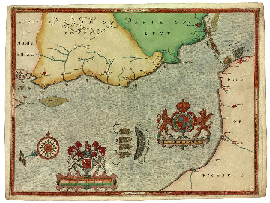 Spanish Armada by Library Of Congress, Geography And Map Division/science  Photo Library