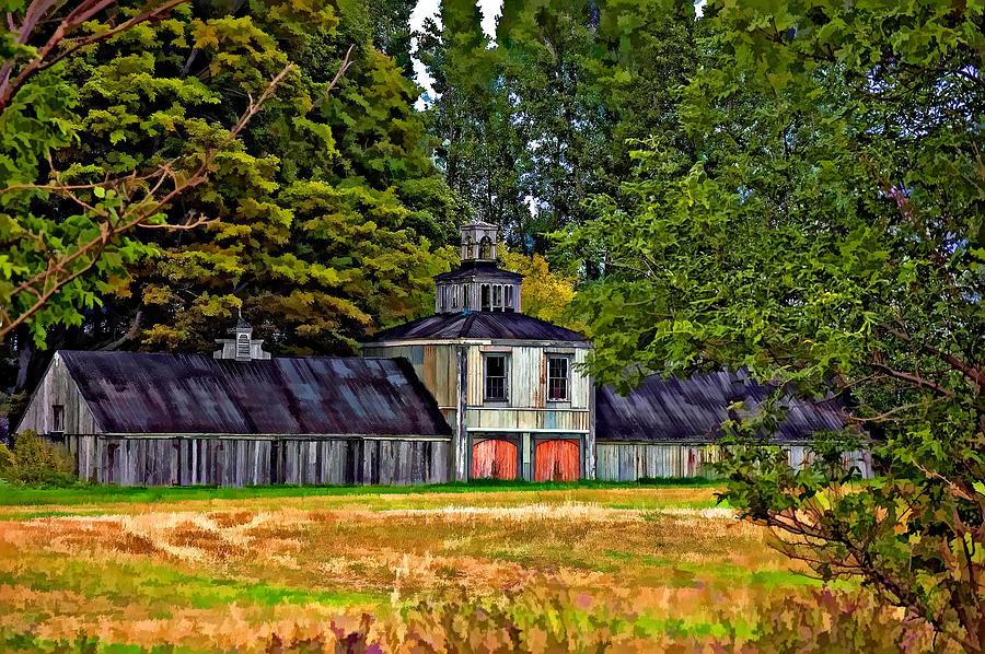 Barn Photograph - 5 Star Barn Paint Filter by Steve Harrington