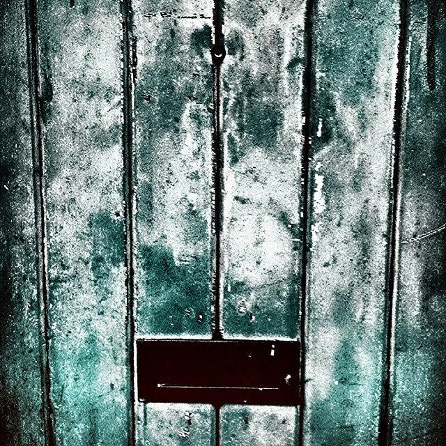 Abstraction Photograph - The Blue Door by J Roustie