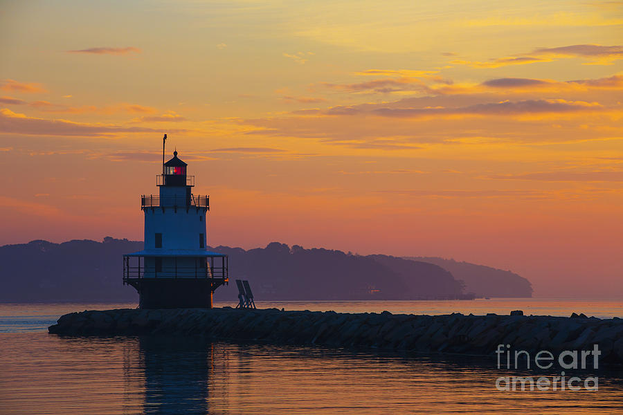 Sunrise Photograph - Sunrise At Spring Point Lighthouse by Diane Diederich