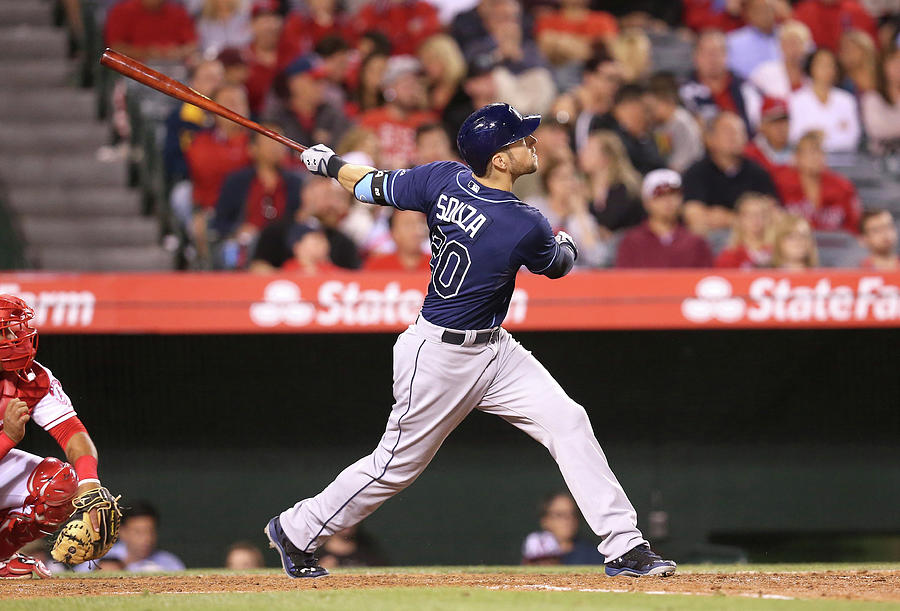 Tampa Bay Rays V Los Angeles Angels Of Photograph by Stephen Dunn