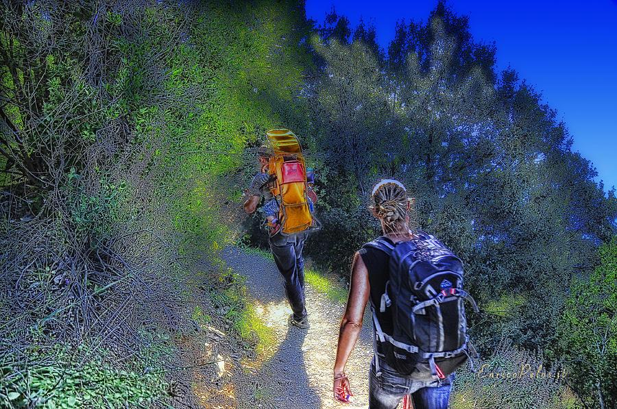 Monterosso Mixed Media - 5 Terre Monterosso Trekking In Passeggiate A Levante by Enrico Pelos