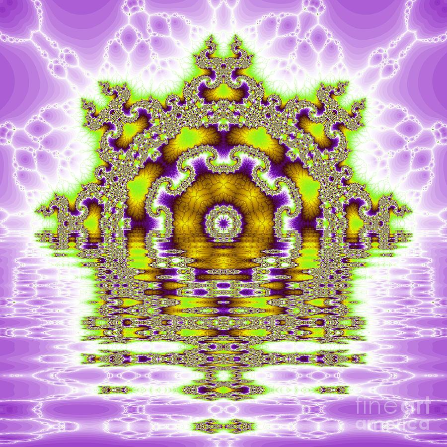 Fracta Digital Art - The Kaleidoscope Reflections by Odon Czintos