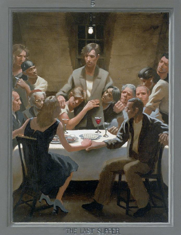 Jesus Painting - 5. The Last Supper / From The Passion Of Christ - A Gay Vision by Douglas Blanchard