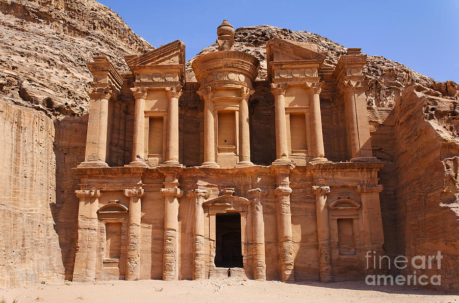 Petra Photograph - The Monastery At Petra In Jordan by Robert Preston