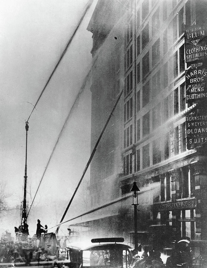 1911 Photograph - Triangle Factory Fire by Granger