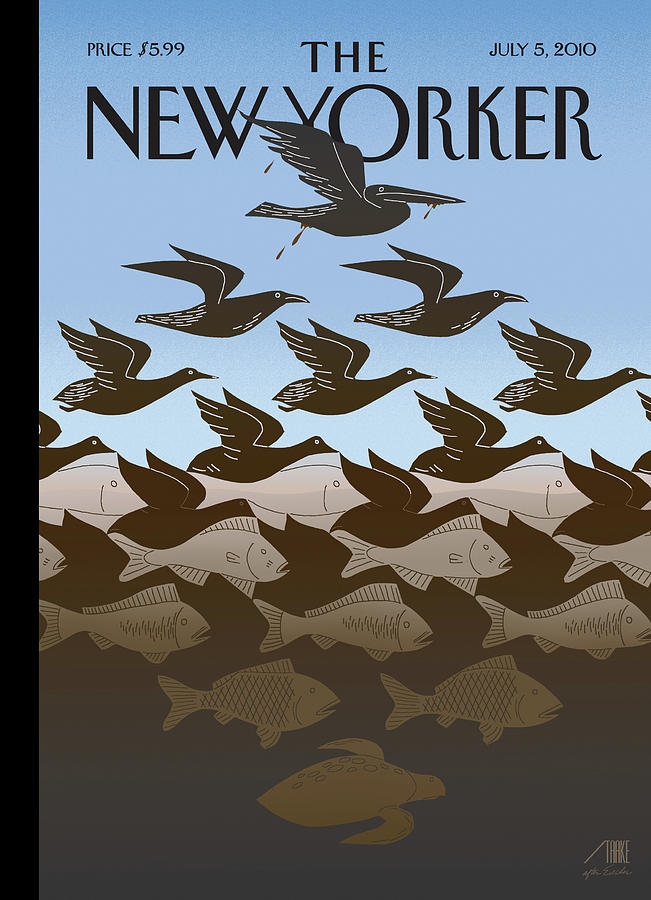 New Yorker July 5th, 2010 Painting by Bob Staake