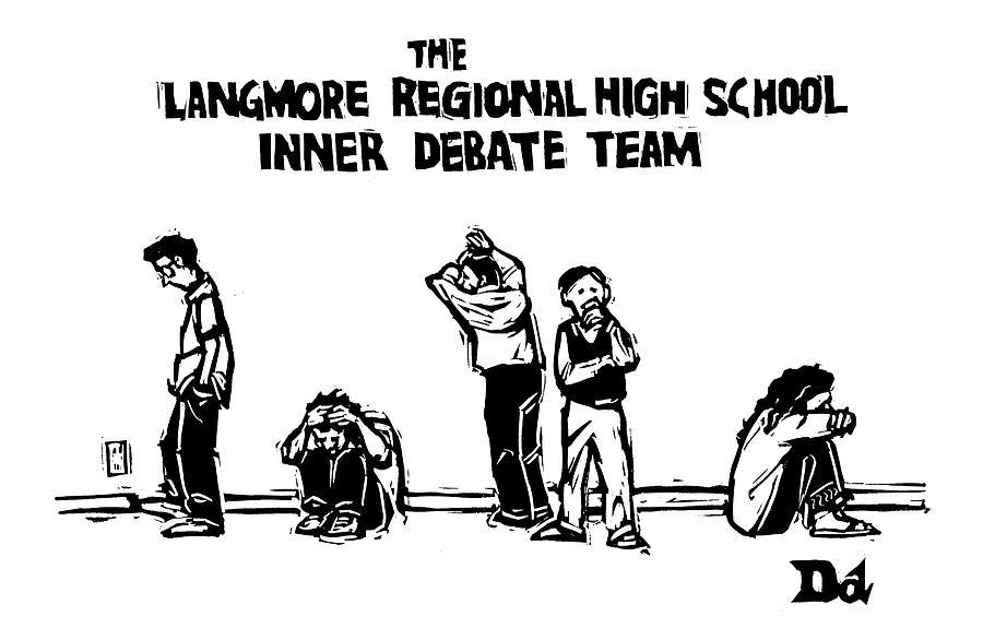 The Langmore Regional High School Inner Debate Drawing by Drew Dernavich