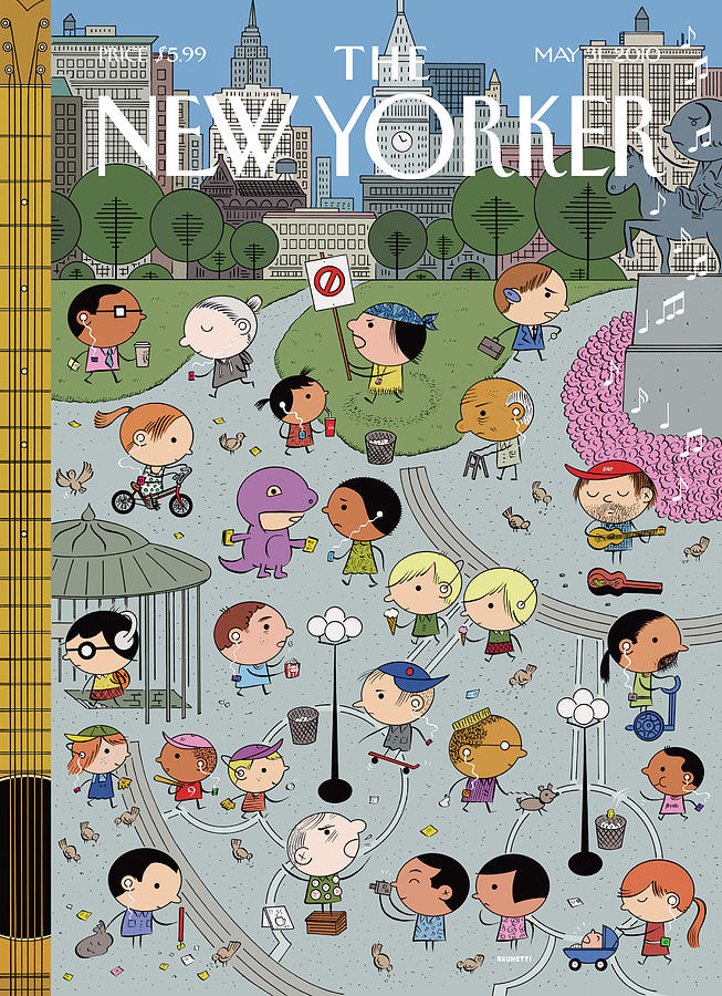 Union Square Painting by Ivan Brunetti