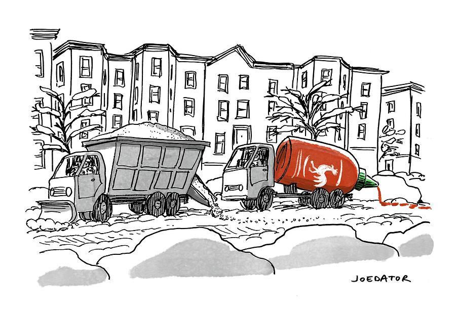 Sriracha Drawing by Joe Dator