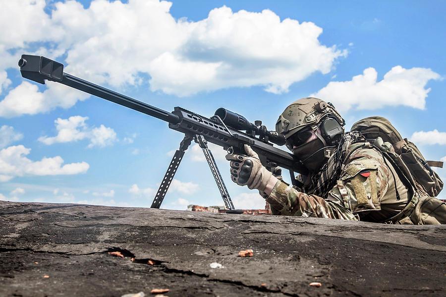 U.s. Army Ranger Sniper by Oleg Zabielin
