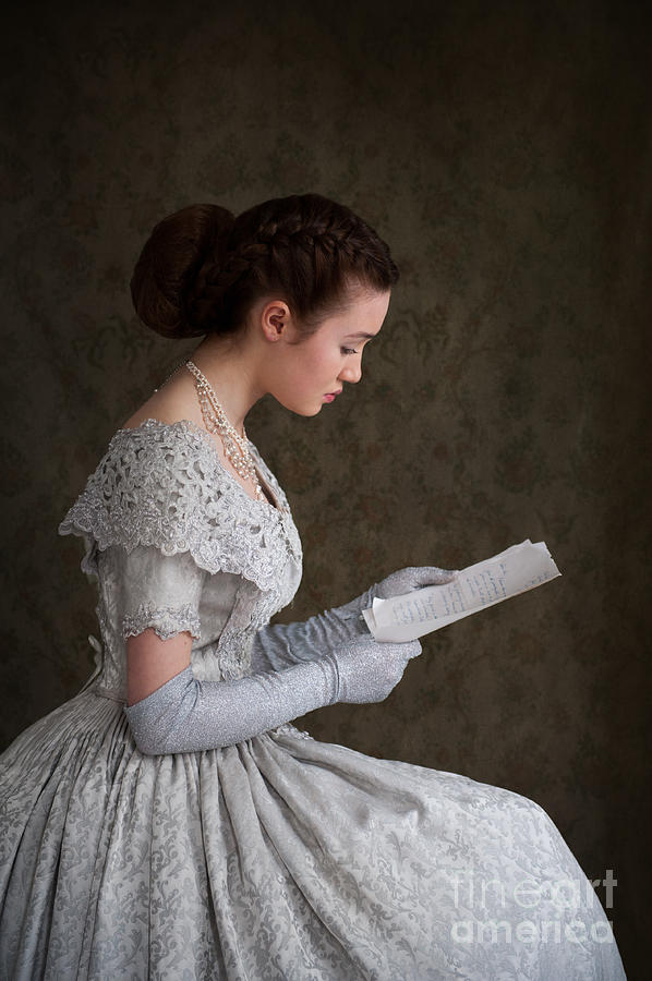 Victorian Woman Reading A Letter Photograph By Lee Avison