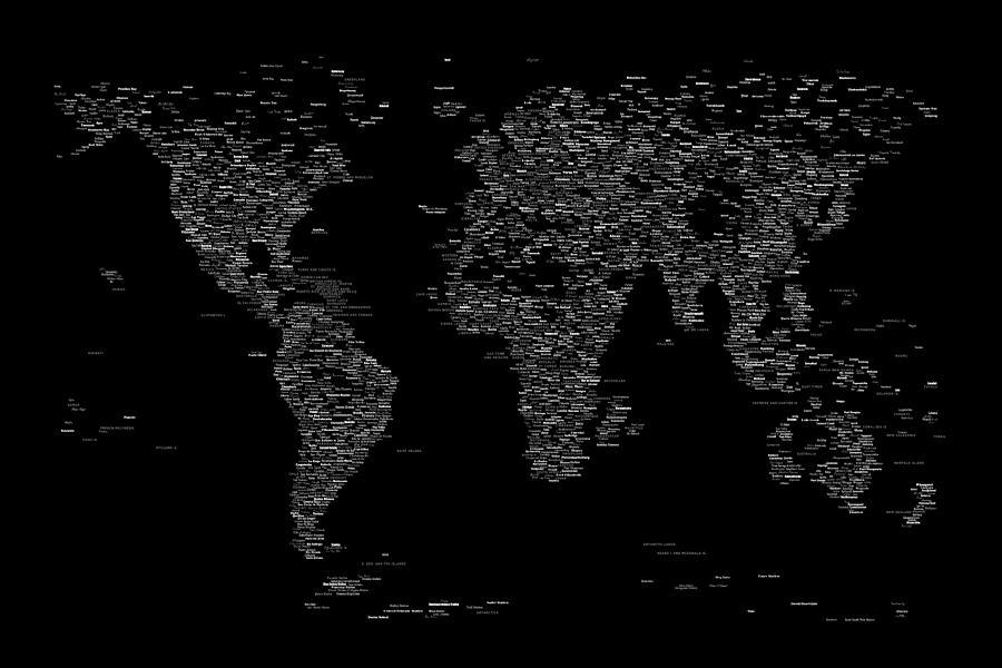 World map of cities digital art by michael tompsett map of the world digital art world map of cities by michael tompsett gumiabroncs Image collections