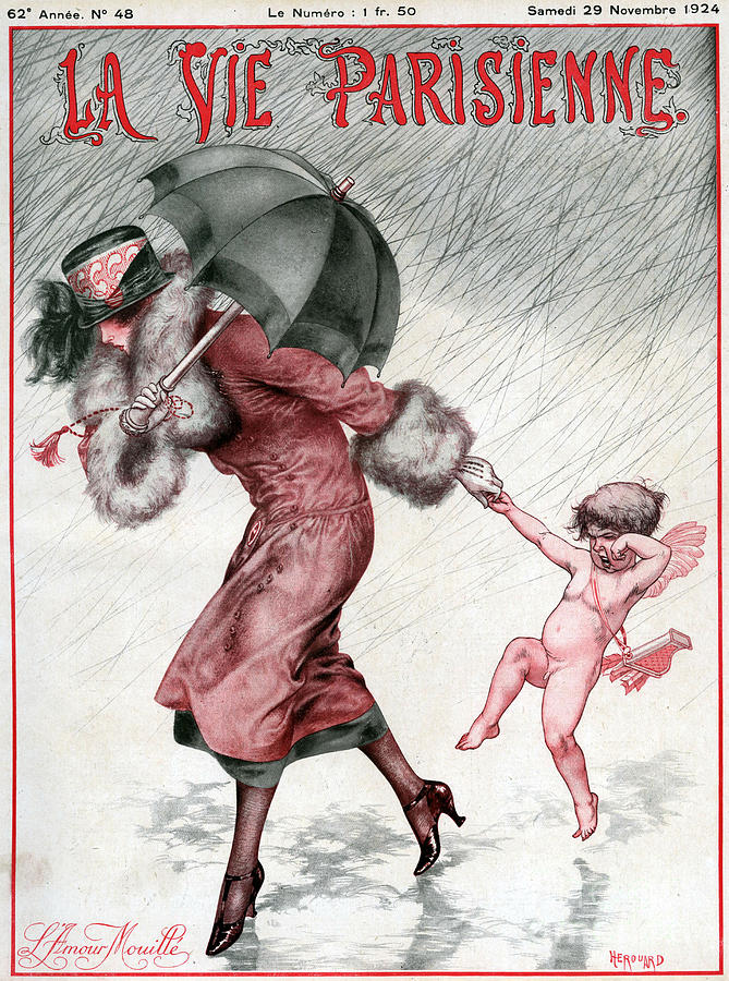 French Drawing - La Vie Parisienne 1924 1920s France by The Advertising Archives