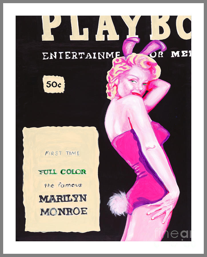 Marilyn Monroe Painting - 50 Years of Bunnies by Holly Picano