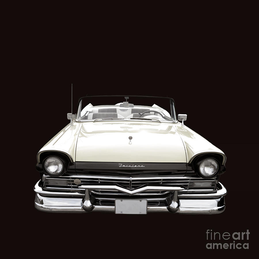 Ford Photograph - 50s Ford Fairlane Convertible by Edward Fielding