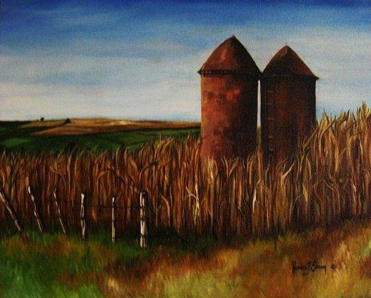 Silo Painting - 50th And Memphis by Kendra Sorum