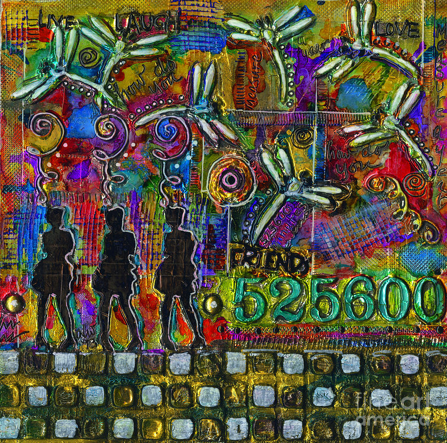 Women Mixed Media - 525 600 Minutes - Color by Angela L Walker