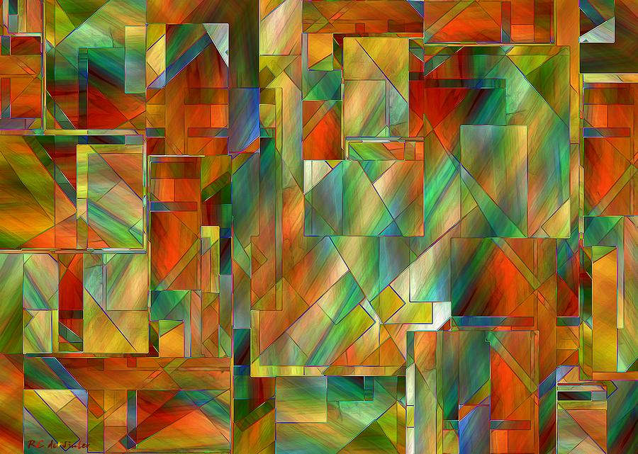 Abstract Painting - 53 Doors by RC DeWinter
