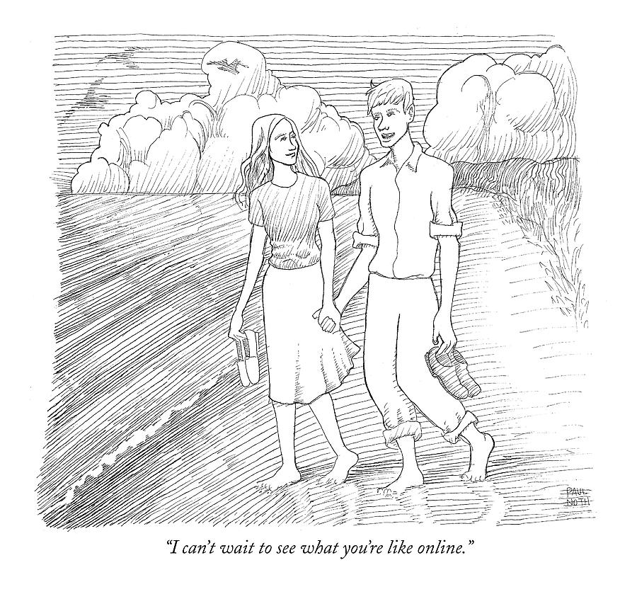 I Cant Wait To See What Youre Like Online Drawing by Paul Noth