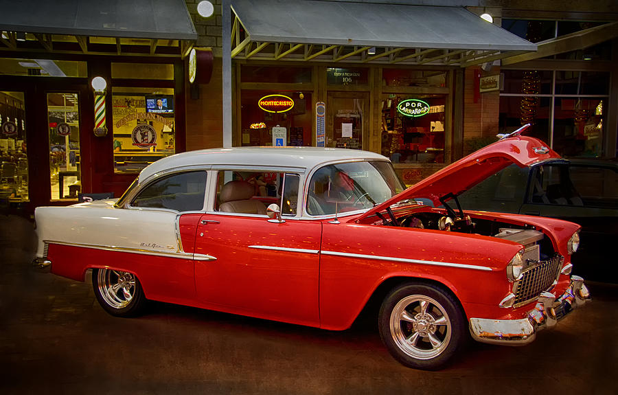 55 Chevy Photograph - 55 Chevy Belair by Saija  Lehtonen